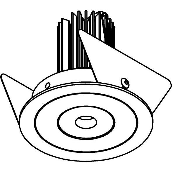 Drawing of PICO.SLO/.. - Ø65 SLO - T1, inbouwspot - rond - vast - zonder LED driver