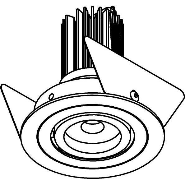 Drawing of DIVA.SLO/.. - Ø65 SLO - T1, inbouwspot - rond - richtbaar - zonder LED driver