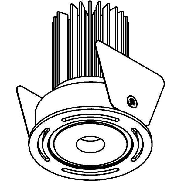Drawing of ZITA35V/.. - ZITA SLO - T2, inbouwspot - rond - dubbelwandig - zonder LED driver