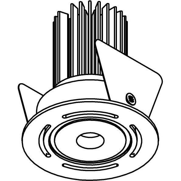 Drawing of ZITA35/.. - ZITA SLO - T2, inbouwspot - rond - dubbelwandig - zonder LED driver
