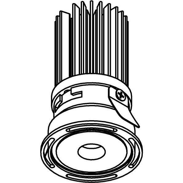Drawing of ZITA35M/.. - ZITA SLO - T3, inbouwspot - rond - zonder LED driver
