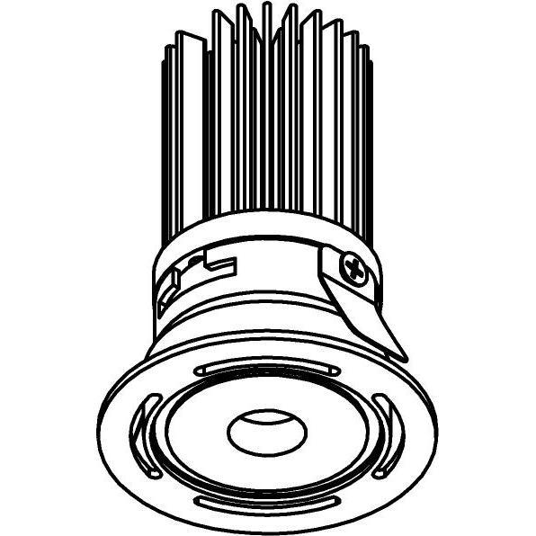 Drawing of ZITA35VT/.. - ZITA SLO - T3, inbouwspot - rond - zonder LED driver