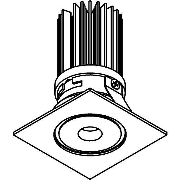 Drawing of ZITA35CG/.. - ZITA SLO - T3, inbouwspot - vierkant - zonder LED driver