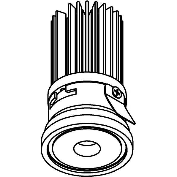 Drawing of ZITA35P/.. - ZITA SLO - T4, inbouwspot - rond - zonder LED driver