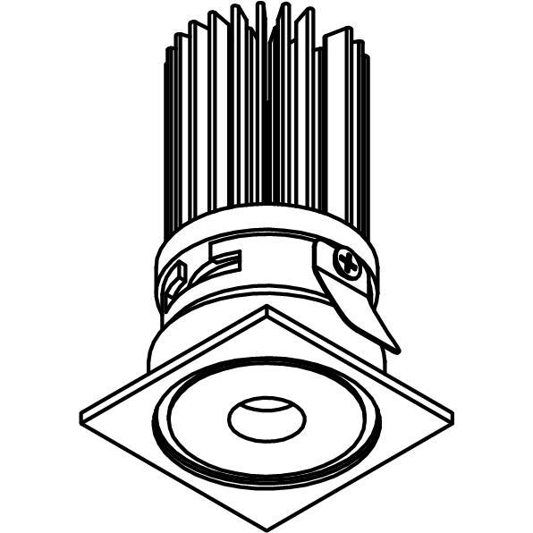 Drawing of ZITA35C/.. - ZITA SLO -T4, downlight - square - without LED driver