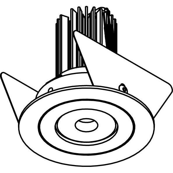 Drawing of ARCA.SLO/.. - Ø60 SLO - T1, inbouwspot - rond - vast - zonder LED driver