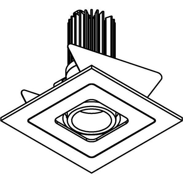 Drawing of VARIO.SLO/.. - Ø65 SLO - T1, inbouwspot - vierkant - richtbaar - zonder LED driver