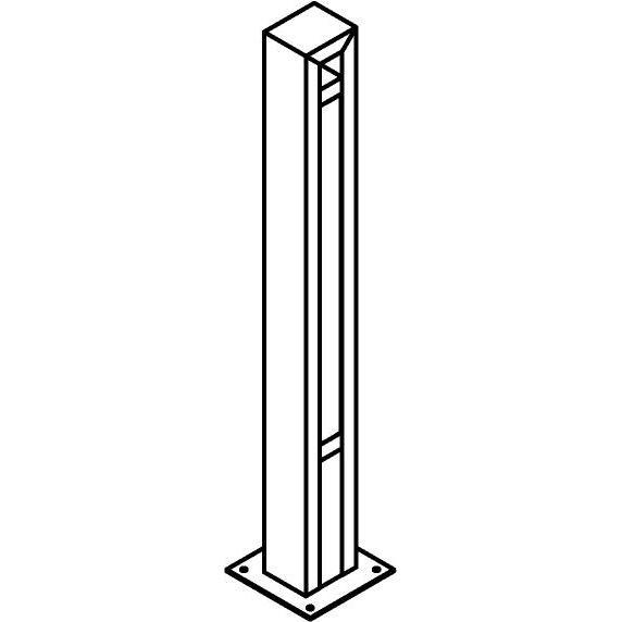 Drawing of T1177.670/.. - FRANKLIN, tuinpaal - vierkant - vast - met transfo