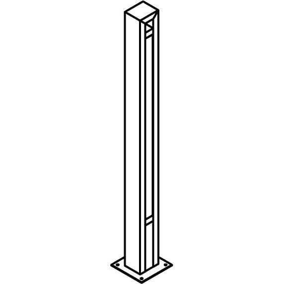 Drawing of T1177.870/.. - FRANKLIN, tuinpaal - vierkant - vast - met transfo