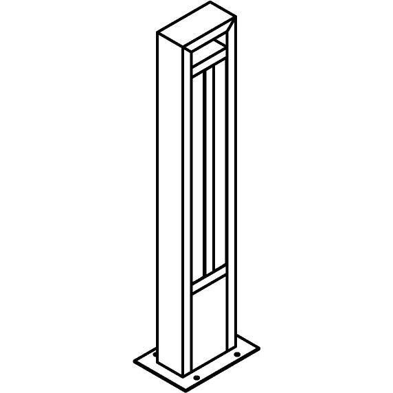 Drawing of T1179.670/.. - FRANKLIN, tuinpaal - vierkant - vast - met transfo