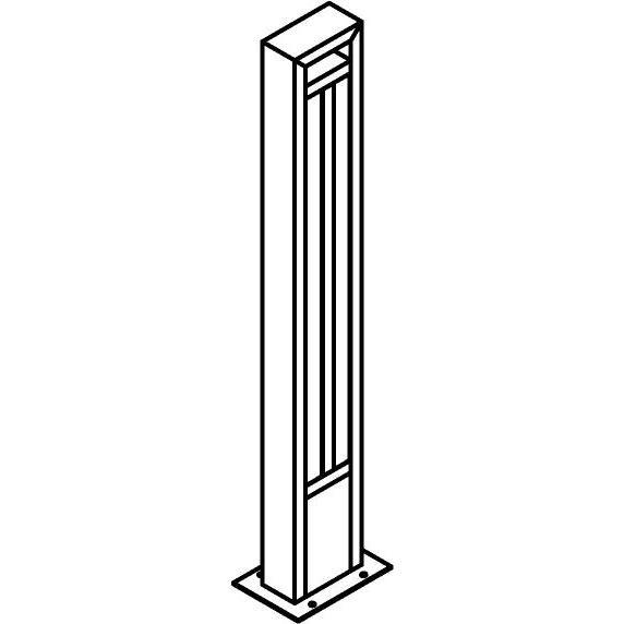 Drawing of T1179.870/.. - FRANKLIN, tuinpaal - vierkant - vast - met transfo