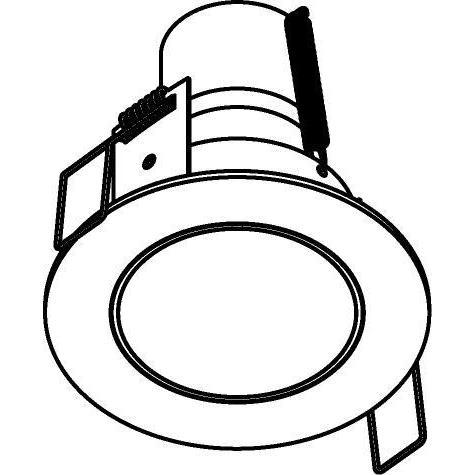 Drawing of 3176/.. - FLUX INOX 316 Ø72, inbouwspot - rond - vast - met helder glas