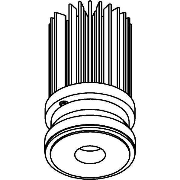 Drawing of SLO_T2_D36/.. - LEDMODULE T2, ledmodule - lens - zonder LED driver