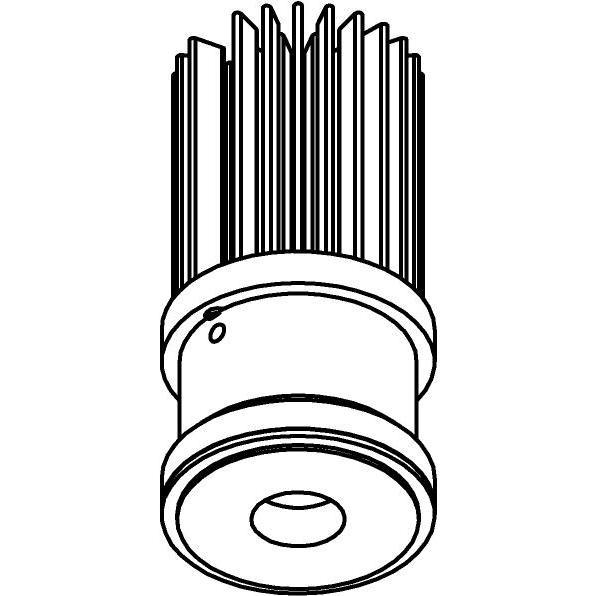 Drawing of SLO_T3_D30/.. - LEDMODULE T3, ledmodule - lens - zonder LED driver