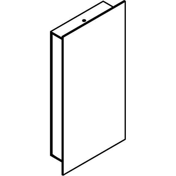 Drawing of W1264/.. - FRANKLIN, opbouw wandlicht - vierkant - vast - met transfo