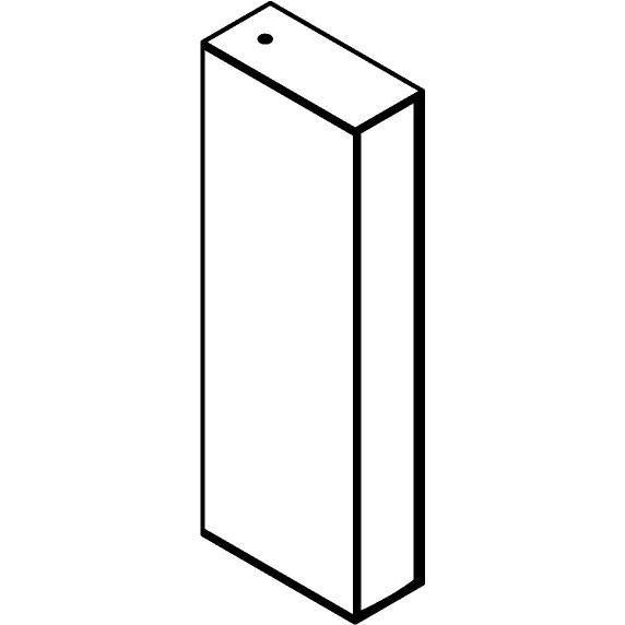 Drawing of W1265/.. - FRANKLIN, opbouw wandlicht - vierkant - vast - met transfo