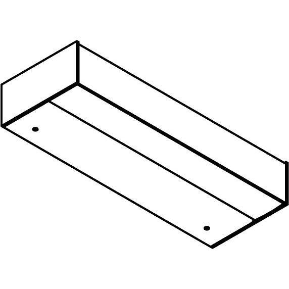 Drawing of W1268/.. - FRANKLIN, opbouw wandlicht - vierkant - vast - down - met transfo