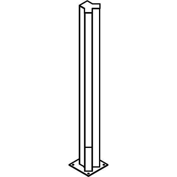 Drawing of T1122.850/.. - FRANKLIN Y, tuinpaal - vierkant - vast - met transfo