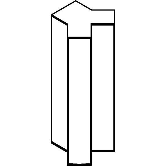 Drawing of W1279/.. - FRANKLIN Y, opbouw wandlicht - vierkant - vast - met transfo