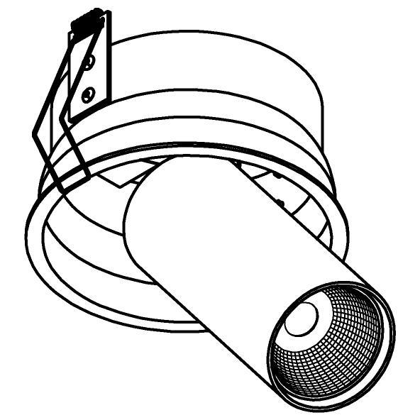 Drawing of 1229.1300.S1/.. - PIVOT XICATO, inbouwspot - rond - richtbaar - zonder LED driver