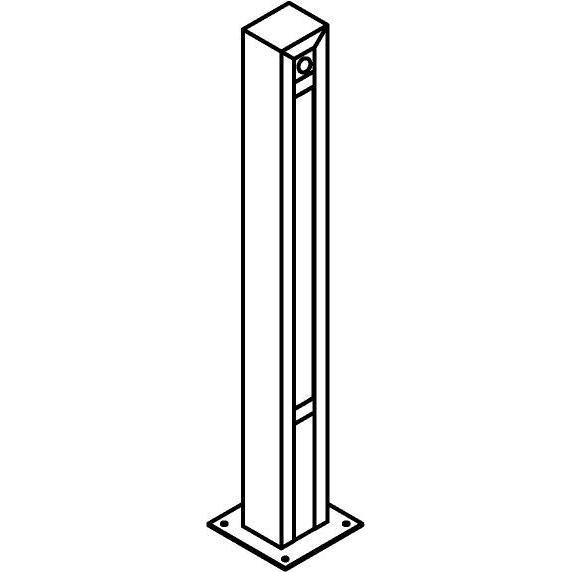 Drawing of T1283.670/.. - FRANKLIN SENSOR, tuinpaal - vierkant - vast - met ingebouwde sensor - met transfo