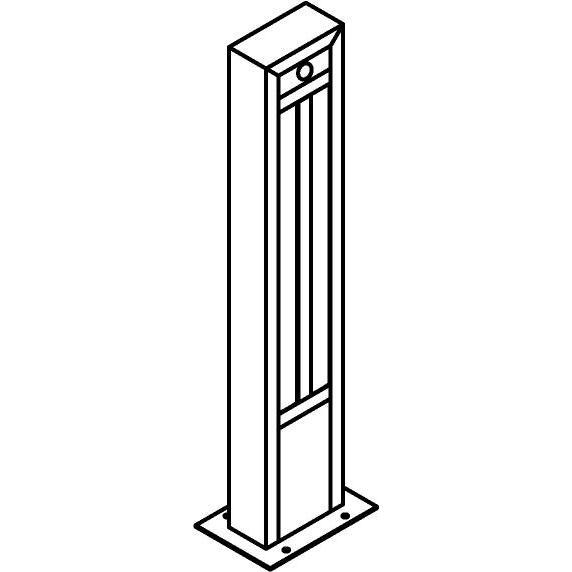 Drawing of T1284.670/.. - FRANKLIN SENSOR, tuinpaal - vierkant - vast - met ingebouwde sensor - met transfo
