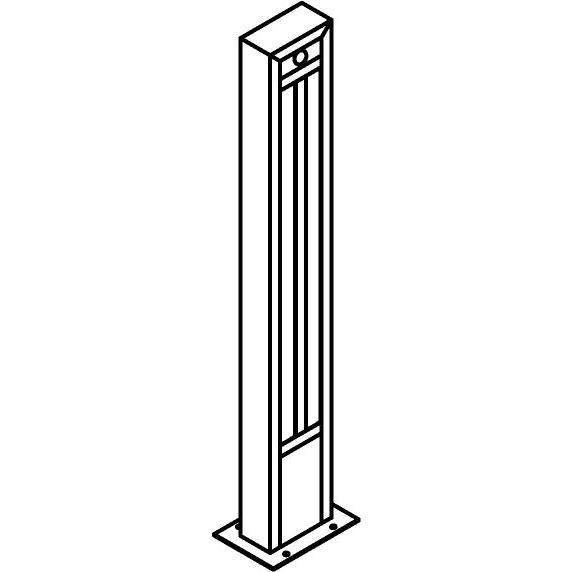 Drawing of T1284.870/.. - FRANKLIN SENSOR, tuinpaal - vierkant - vast - met ingebouwde sensor - met transfo