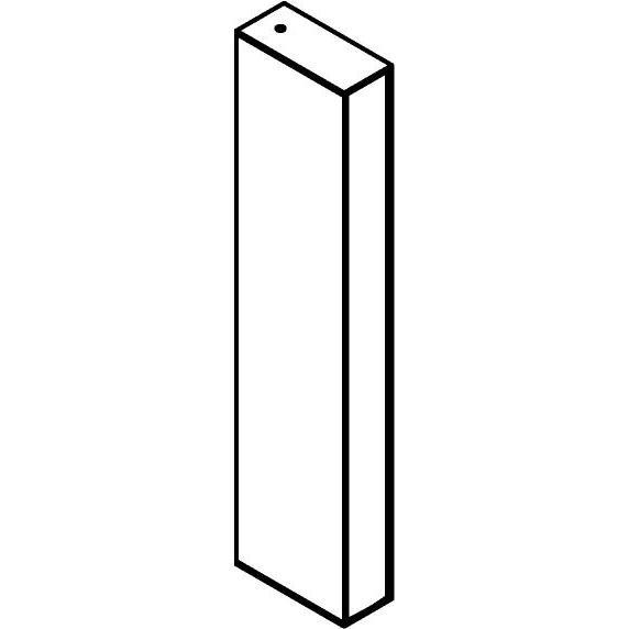 Drawing of W1326/.. - FRANKLIN, opbouw wandlicht - vierkant - vast - met transfo