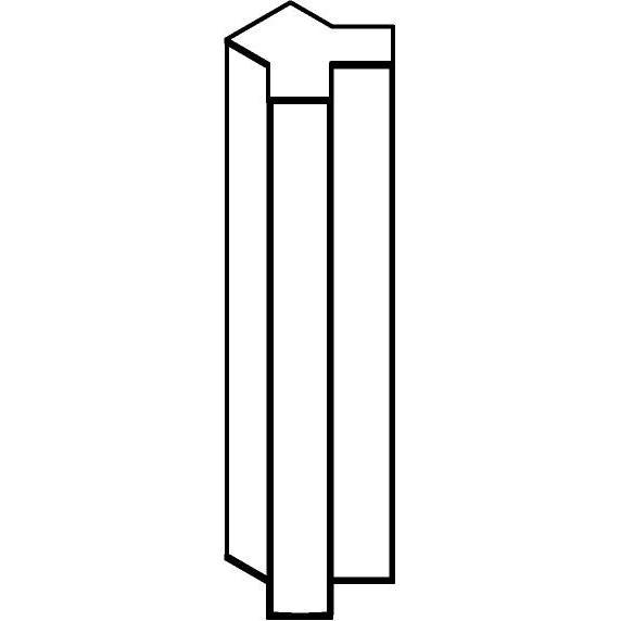 Drawing of W1328/.. - FRANKLIN Y, opbouw wandlicht - vierkant - vast - met transfo