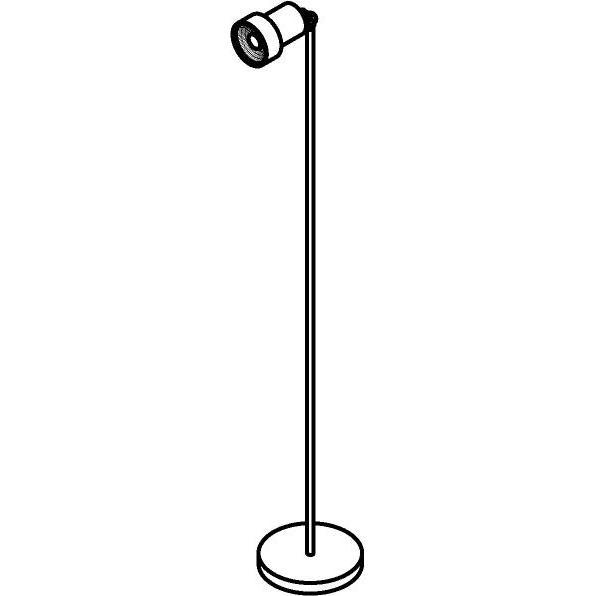 Drawing of 1338/.. - ALFRED, staanlamp - richtbaar - met snoer en stekker