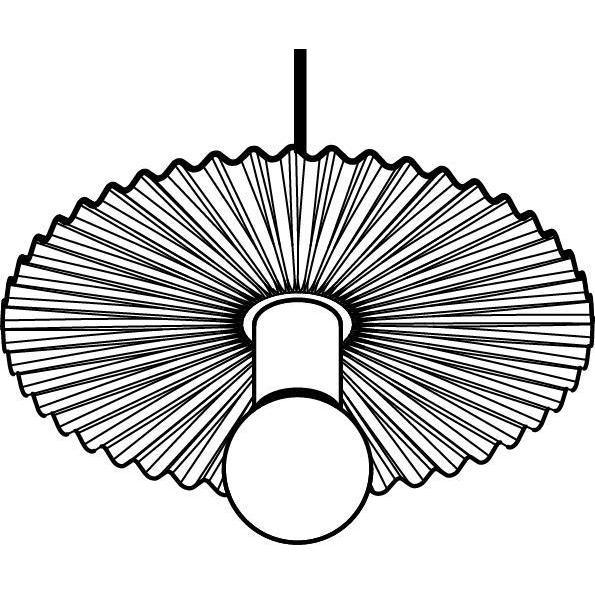 Drawing of 1364/.. - FARFALLE, hanglamp - met 1,5m textielkabel en trekontlasting aan fitting