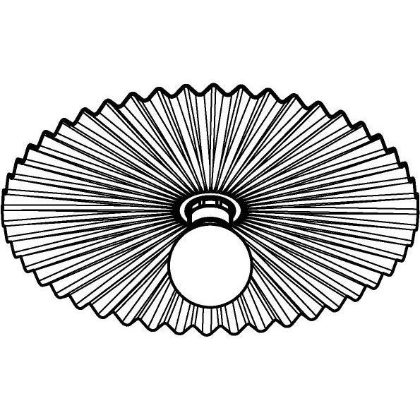 Drawing of 1368/.. - FARFALLE, opbouw plafond -of wandlicht - rond - vast