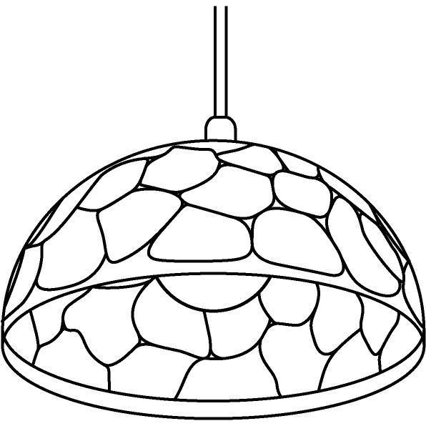 Drawing of 1422/.. - ROCKY, hanglamp - met 1,5m textielkabel en trekontlasting aan fitting