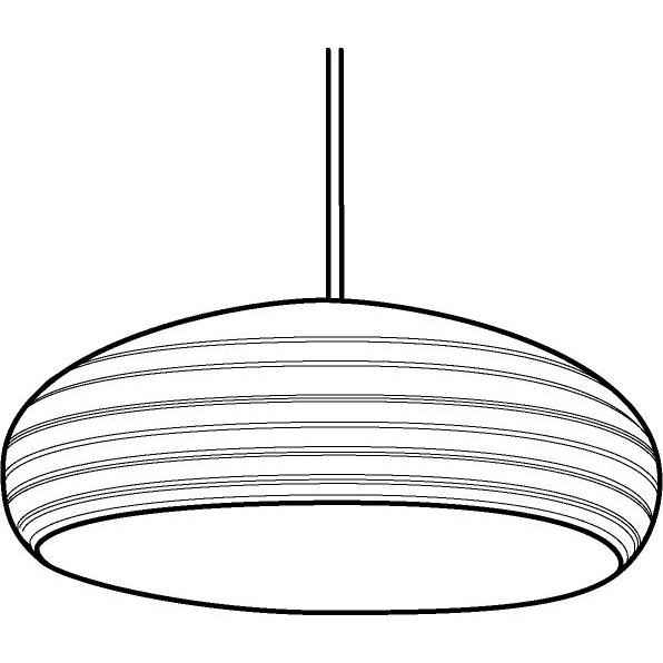 Drawing of 1178/.. - SPACE, pendant - with 1,5m textile cable and strain relief on lampholder's side