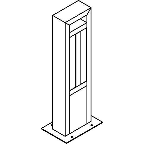 Drawing of T1179.470/.. - FRANKLIN, tuinpaal - vierkant - vast - met transfo