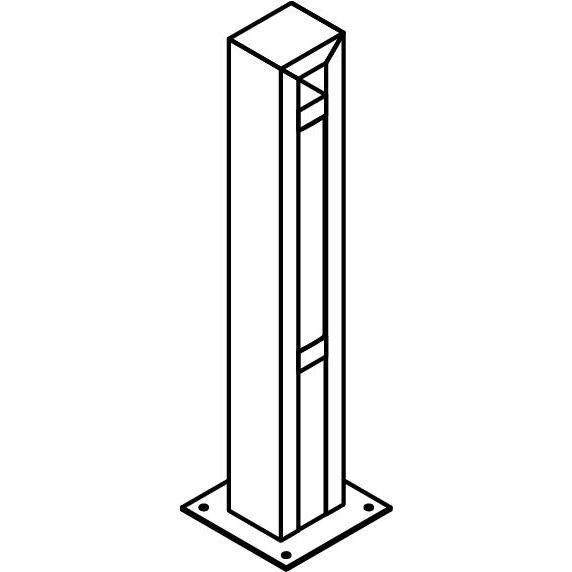 Drawing of T1177.470/.. - FRANKLIN, tuinpaal - vierkant - vast - met transfo