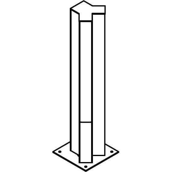 Drawing of T1122.450/.. - FRANKLIN Y, tuinpaal - vierkant - vast - met transfo