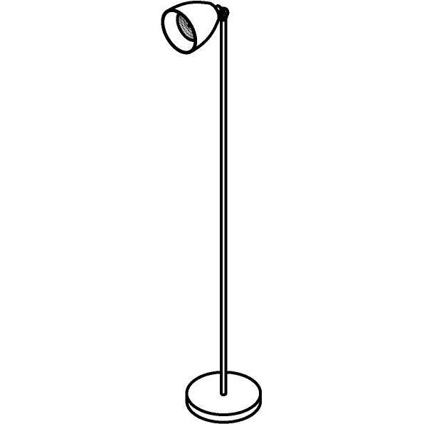 Drawing of 1329/.. - ALFRED, staanlamp - richtbaar - met snoer en stekker