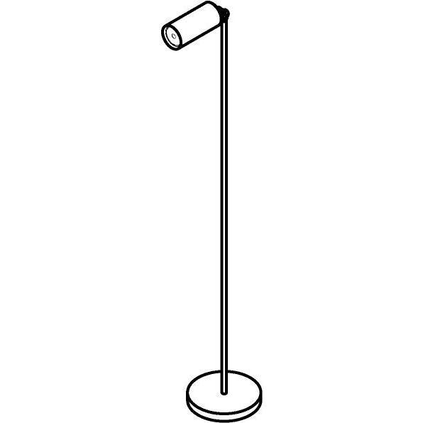 Drawing of 1349/.. - ALFRED, staanlamp - richtbaar - met snoer en stekker