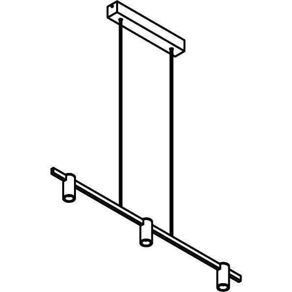Drawing of 1423/.. - TALLY, hanglamp met bolgewricht - stang inkortbaar - vast - down - met LED driver