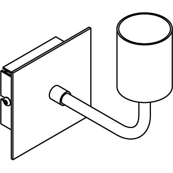 Drawing of 5056/.. - MAESTRO, opbouw wandlicht - vast - met E27 fitting