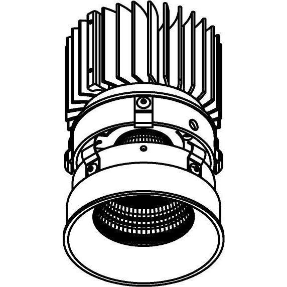 Drawing of E-CLICKANNA.ZXO/.. - Ø80-82 EQUAL CLICK SYSTEM - 230V LEDMODULE, inbouwcassette - rond - vast