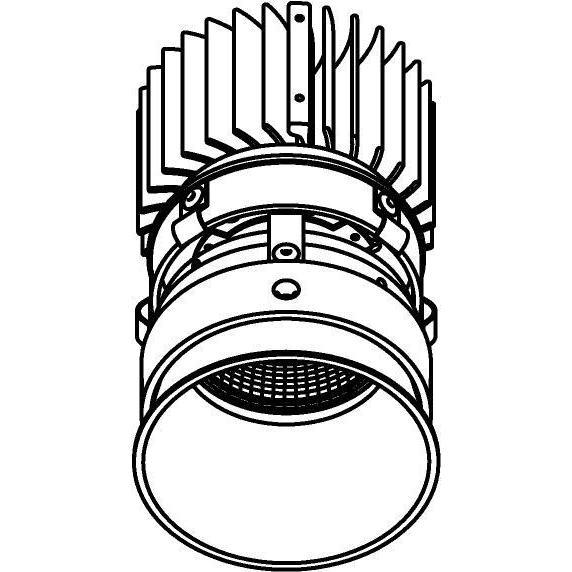Drawing of E-CLICKCAP.ZXO/.. - Ø80-82 EQUAL CLICK SYSTEM - 230V LEDMODULE, inbouwcassette - rond - vast - down