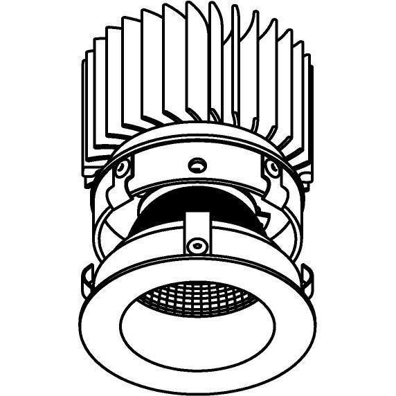 Drawing of E-CLICKDWN.ZXO/.. - Ø80-82 EQUAL CLICK SYSTEM - 230V LEDMODULE, inbouwcassette - rond - vast - down