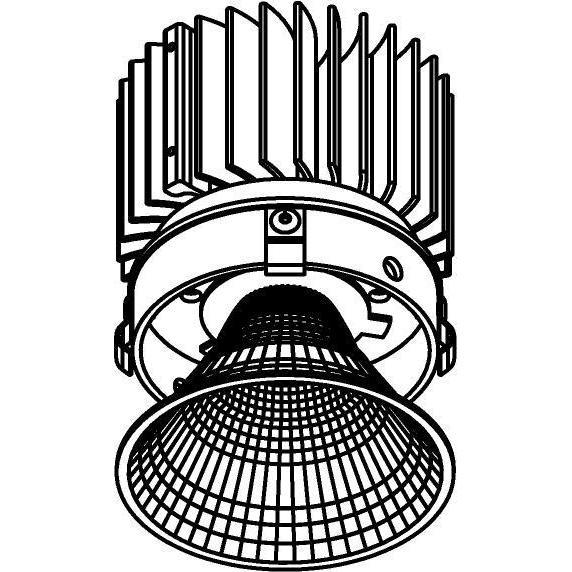 Drawing of E-CLICKREF.ZXO/.. - Ø80-82 EQUAL CLICK SYSTEM - 230V LEDMODULE, inbouwcassette - rond - vast - met reflector