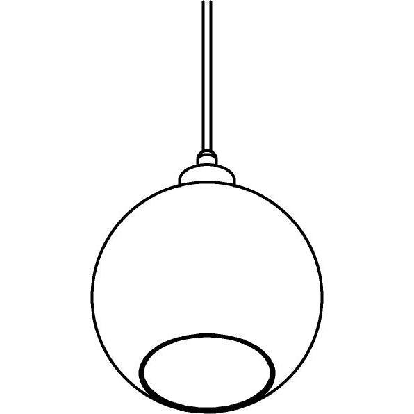 Drawing of 5064.B.E27.SH/.. - MOBY SH TRANSPARANT, hanglamp - met 2m textielkabel en trekontlasting aan fitting
