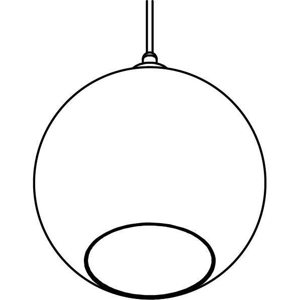 Drawing of 5068.C.E27.SH/.. - MOBY SH SMOKEY GREY, hanglamp - met 2m textielkabel en trekontlasting aan fitting
