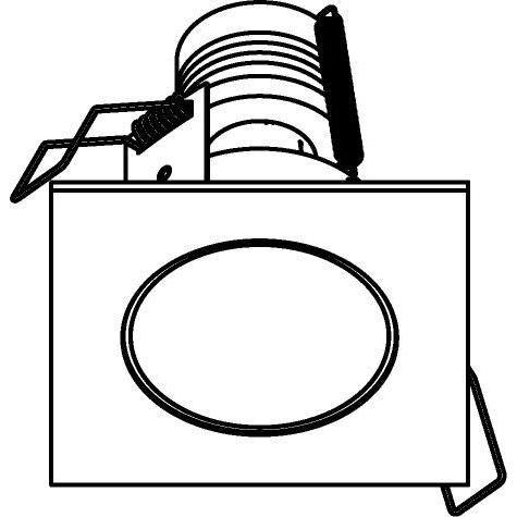 Drawing of 3153/.. - FLUX INOX 316 Ø82, inbouwspot - vierkant - vast - met helder glas