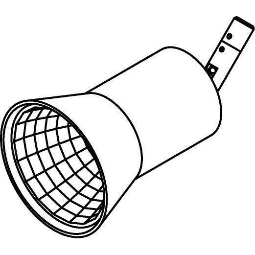 Drawing of 7901/.. - CAPA, opbouwspot M10 - rond - richtbaar - zonder ledlamp