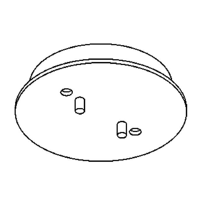 Drawing of 821.ZT/.. - RONDO BOX, plafondverlichting - spots afzonderlijk te bestellen - zonder transfo